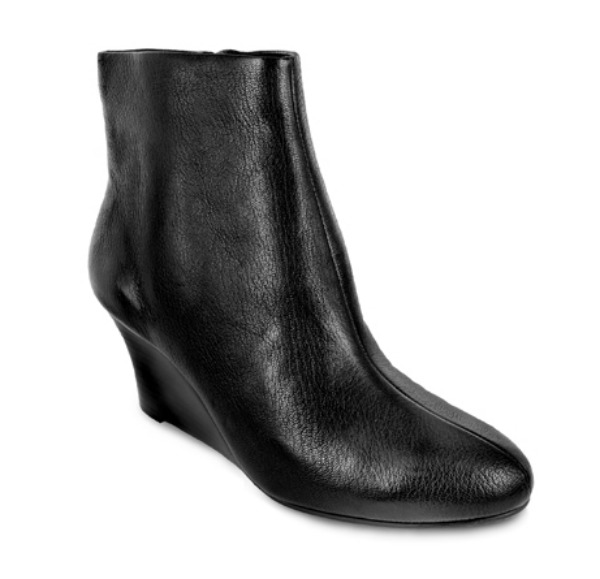 brian james, shoes, pediped, 2.5 wedge booties, noir